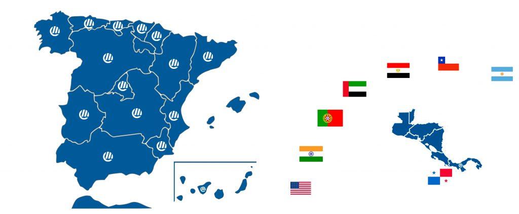 Presencia internacional de Grupo Espacio Industrial