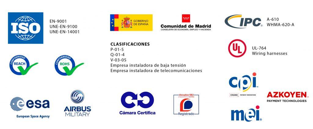 Certificaciones y homologaciones de Grupo Espacio Industrial