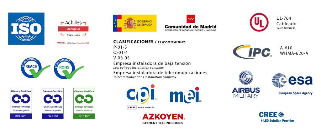 Certificaciones de Grupo Espacio Industrial (ICM+Temansa)