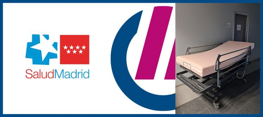 Donación de camas al Servicio de Salud Pública de Madrid, por Grupo Espacio Industrial