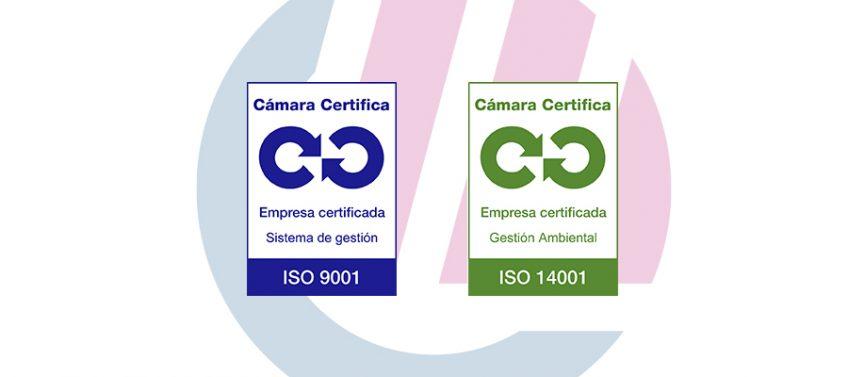 Certificaciones ISO 9001 y 14001 de Grupo Espacio Industrial